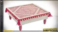 TABLE AUXILIAIRE BOIS 40.5X40.5X16.5 POMPON