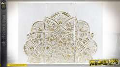 DÉCORATION MURALE SET 3 MDF 120X3X91 120 MANDALA