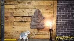Décoration murale d'éléphant en fibre de verre pour décoration intérieur ou extérieur, esprit divinité indienne, 56cm