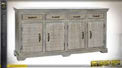 COMMODE MANGUE 180X41X90 70 KG. VIEILLI NATUREL