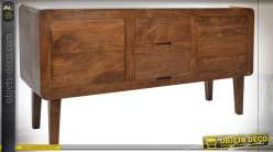 COMMODE ACACIA 150X45X78 2 TIROIRS NATUREL MARRON