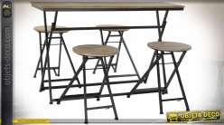 TABLE AUXILIAIRE SET 4 SAPIN MÉTAL 141X151X86