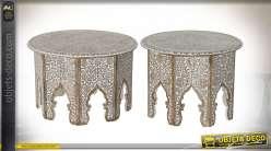 TABLE AUXILIAIRE SET 2 MANGUE 71X71X44,5 NATUREL
