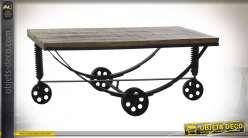 TABLE BASSE FER ACACIA 137X80X49,5 NOIR
