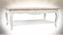 TABLE BOIS 120X70X46 BLANC