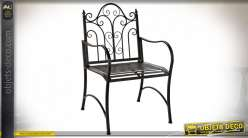 CHAISE METAL 60X63X95 NOIR
