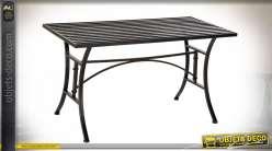 TABLE CAFE METAL 100X50X55 NOIR