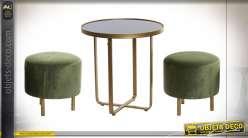 TABLE AUXILIAIRE SET 3 MÉTAL 50X50X52,5 50