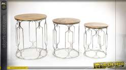 TABLE AUXILIAIRE SET 3 MANGUE 46X61