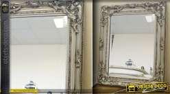 Miroir de style ancien patine argent