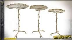 TABLE AUXILIAIRE SET 3 ALUMINIUM 41X41X59 6,15 NEN