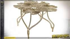 TABLE AUXILIAIRE ALUMINIUM 66X65X38 5,19 NÉNUPHARS