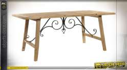 TABLE SAPIN MÉTAL 180X90X75