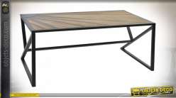 TABLE BOIS MÉTAL 120X59,5X48