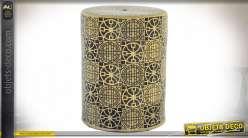 TABLE AUXILIAIRE GRES 33X33X44 ETNICO BLEU