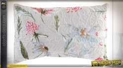 COUSSIN COTON POLYESTER 60X40 400 GR. FLEURS