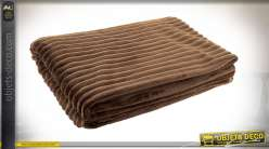 COUVERTURE POLYESTER 130X170 250 GSM. MARRON