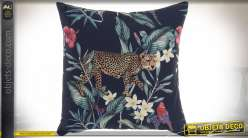 COUSSIN POLYESTER 45X45 468 GR. LÉOPARD