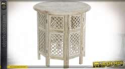 TABLE AUXILIAIRE MANGUE 62,5X62,5X54 FLORAL