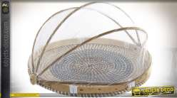 COUVRE ASSIETTE SEAGRASS BAMBOU 40X40X24 COUVERCLE