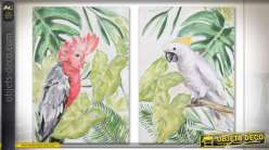 TABLEAU TOILE 70X3X100 CACATOES 2 MOD.
