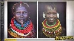 TABLEAU TOILE 40X50X1,5 0,3 AFRICANA 2 MOD.