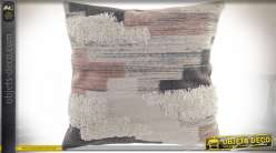 COUSSIN POLYESTER 45X45 692 GR. BRODÉ ROSE