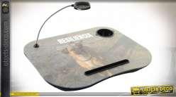 PLATEAU LED PVC 48X38X7 RÉSILIENCE MARRON