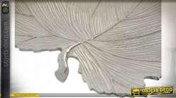 PLATEAU ALUMINIUM 36X35X4 FEUILLE CHROME