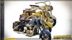 VEHICULE DÉCORATION MÉTAL 11X4X5 MOTO 3 MOD.