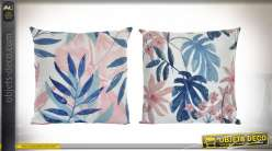 COUSSIN POLYESTER 45X45 500 GR. FEUILLES 2 MOD.