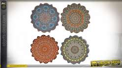 SET DE TABLE DOLOMITE 20X20X0,8 200 MANDALA 4 MOD.
