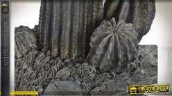 FIGURE RÉSINE 29,5X24X82,5 CACTUS GRIS