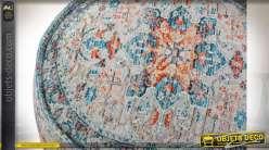 COUSSIN DE SOL COTON 60X60X25 VIEILLI BLEU