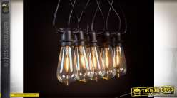 GUIRNALDA LED CRISTAL 6X840 10LEDS E27 IP44 NEGRO