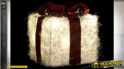 CADEAU SET 3 LED COTON 25X25X28 BRILLANT BLANC