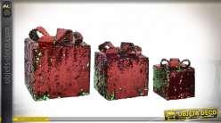 CADEAU SET 3 GEMMES 25X25X25 0,85 BRILLANT ROUGE