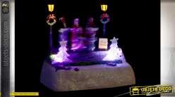 DÉCORATION LUMINEUSE LED RÉSINE 16X11X14 CHORALE
