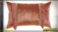 COUSSIN VISCOSE COTON 50X30 7,1 FRANGE CORAIL