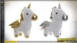 PELUCHE POLYESTER LED 34X24X35 0,36 LICORNE 2 MOD.