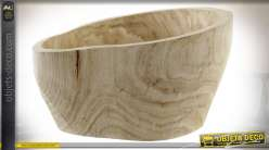 CENTRE DE TABLE PAULOWNIA 31X25X16 1 NATUREL