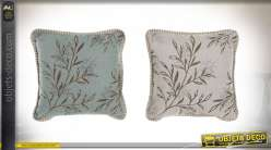 COUSSIN POLYESTER 45X45 630GR. FEUILLES 2 MOD.