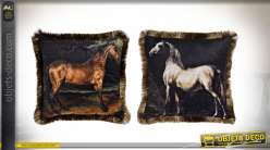 COUSSIN POLYESTER 45X45 540GR CHEVAL 2 MOD.