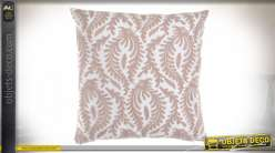 COUSSIN POLYESTER 45X45 540 GR. FLORAL VIEUX ROSE