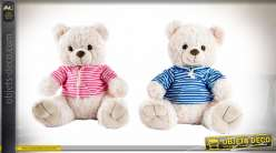 PELUCHE POLYESTER 40X32X38 OURS 2 MOD.