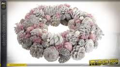 COURONNE ANANAS POLYSTYRENE 34X34X8.5 ROSE