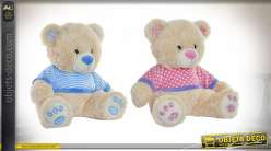 PELUCHE POLYESTER 44X30X40 0,59 OURS 2 MOD.