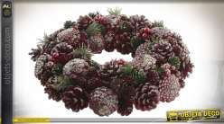 COURONNE ANANAS POLYSTYRENE 34X34X8.5 VIOLET