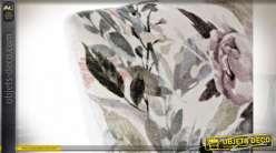 COUSSIN COTON 50X30 450GR FLEURS BLANC
