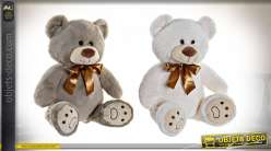 PELUCHE POLYESTER 34X18X36 OURS 2 MOD.